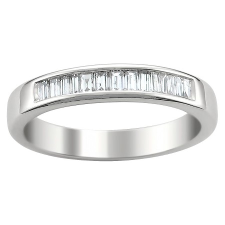 1 2 CT T W Baguette Diamond Band Channel Set Ring in 14K White Gold G H VS1 VS2 Size 5 5