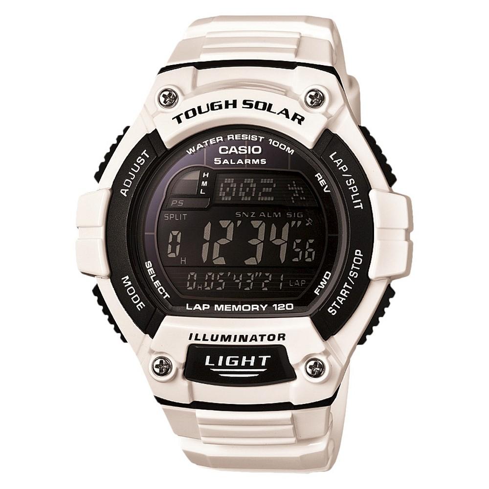 Casio Solar Multi-Function 120-Lap Runner Watch - Glossy White (WS220C-7BVCF), Men's