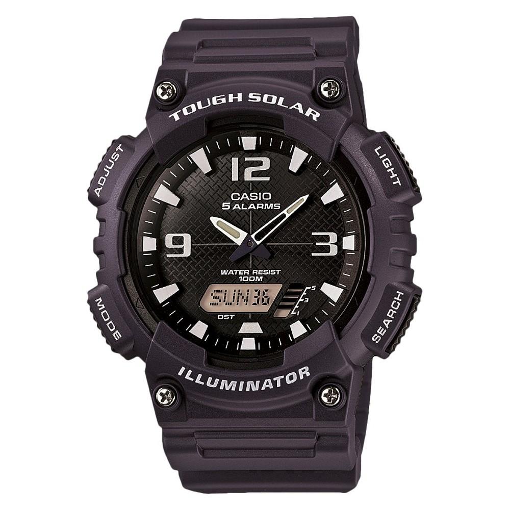 Men's Casio Solar Sport Combination Watch - Blue (AQS810W-2A2VCF), Navy