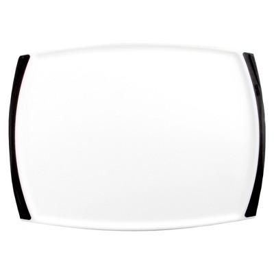Dexas 11.5x17  Cut and Serve Cutting Board - White/Black