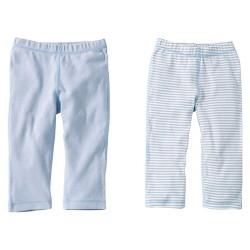 Burts Bees Baby™ Newborn Boys' 2 Pack Solid/Print Pants - Sky