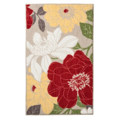 Captivating Spring Floral Kitchen Rug Red   Threshold™