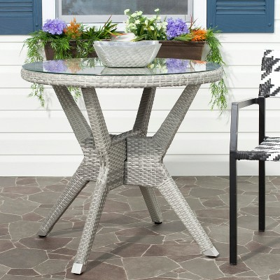 Mykonos 4 Piece Wood Patio Conversation Furniture Set   Safavieh®