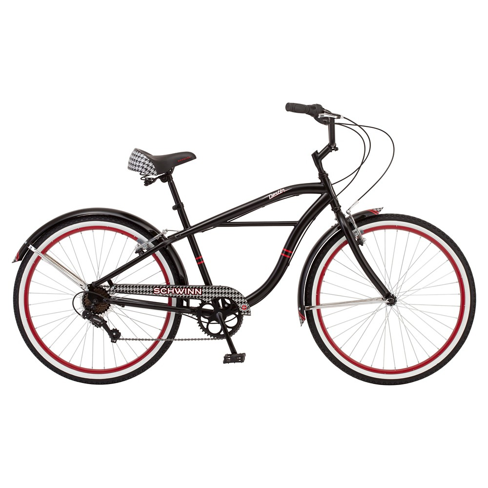 Schwinn Men's 26 Cruiser Bike- Black/Red