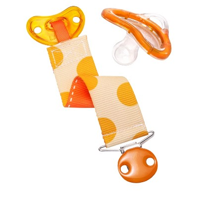 Munchkin LATCH™ Pacifier & Designer Clip, 6+ Months - Orange