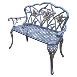 Butterfly Cast Aluminum Loveseat Bench