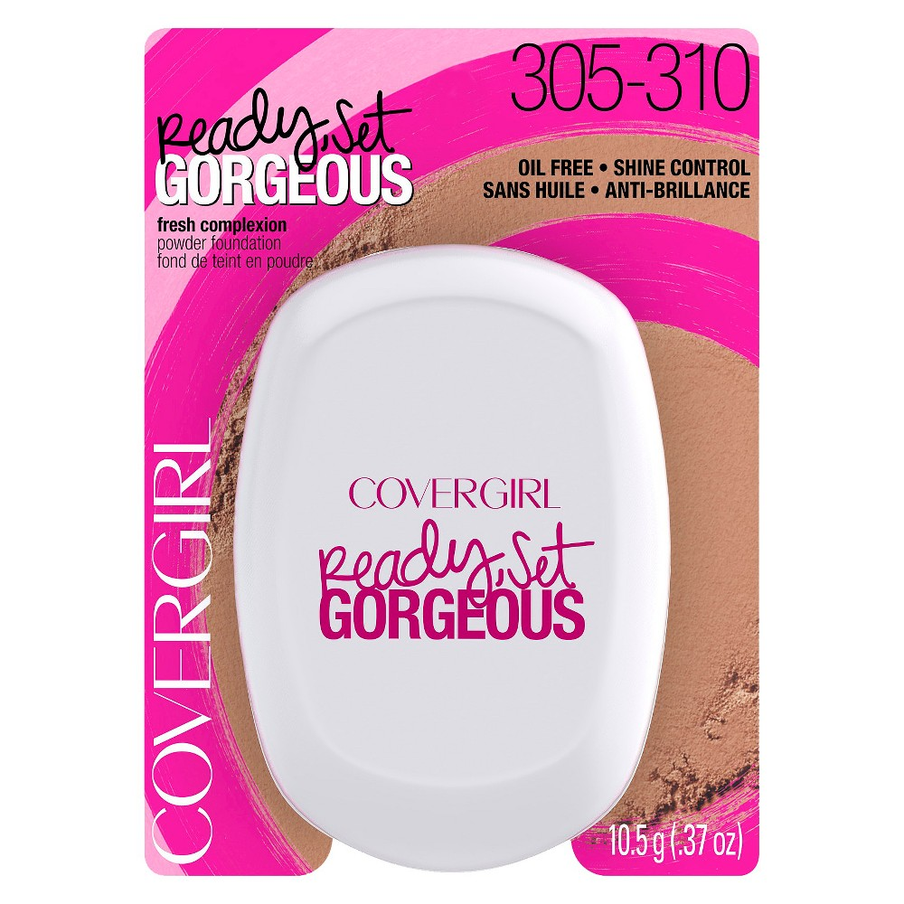 Covergirl Ready Set Gorgeous Powder Foundation - 305/310 Medium/Deep, 305/310 Medium Deep
