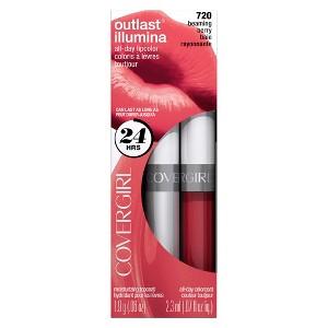 Covergirl Outlast Longwear Lipstick 720 Beaming Berry .13oz, Illumina Beaming Berry 720