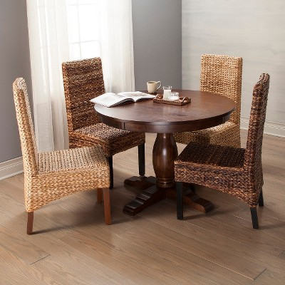 round pedestal dining table threshold