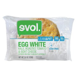 Evol Egg White-Kale-Roasted Tomato & Goat Cheese Multi-Grain Flatbread Breakfast Sandwich 3.6 oz