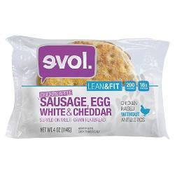 Evol Chicken Apple Sausage-Egg White & Cheddar Multi-Grain Flatbread Breakfast Sandwich 4 oz