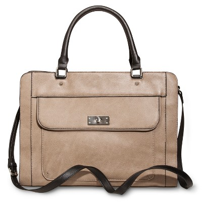 Women's Crossbody Work Tote Handbag - Tan - Merona™