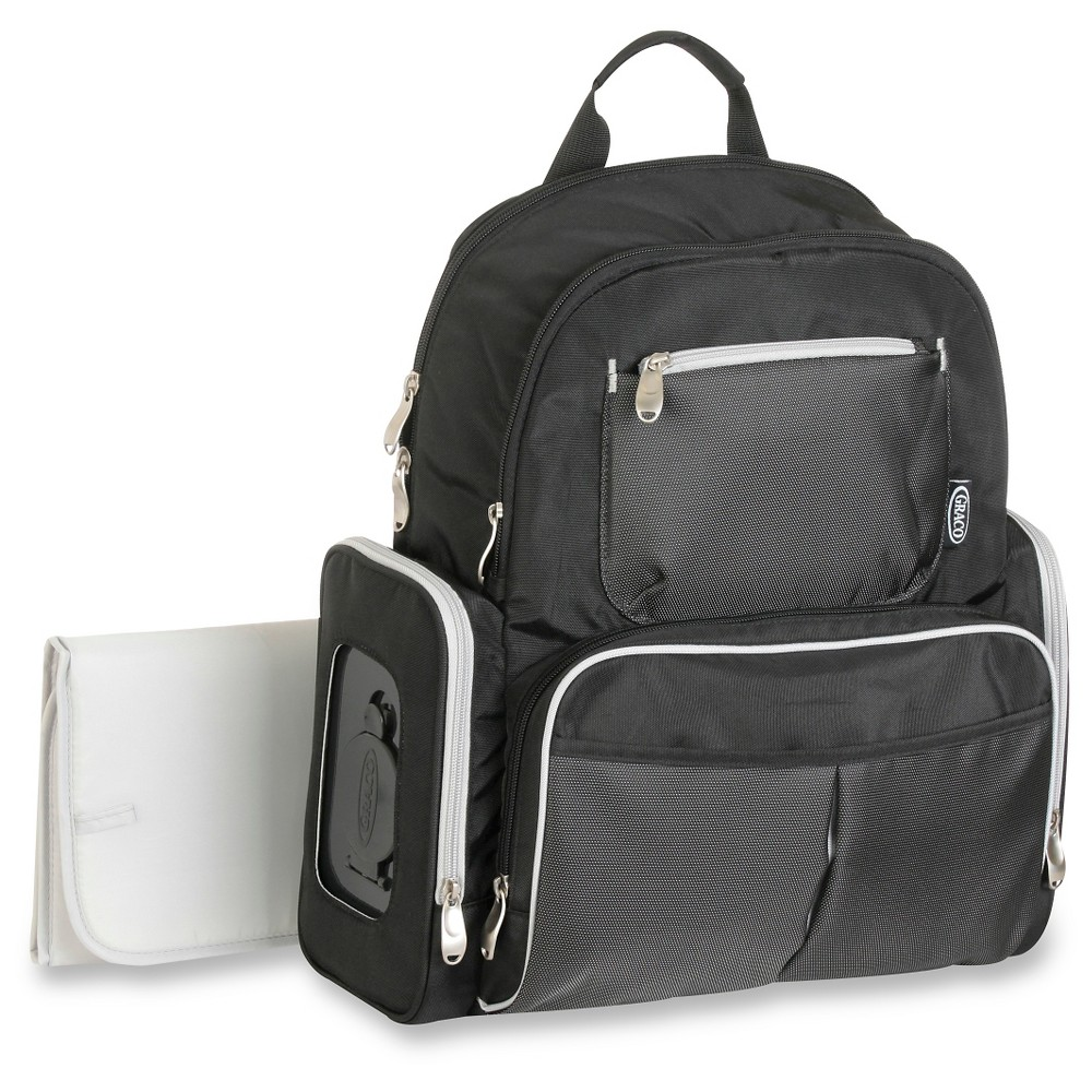 Graco Gotham Backpack Diaper Bag - Black & Gray, Black/Gray