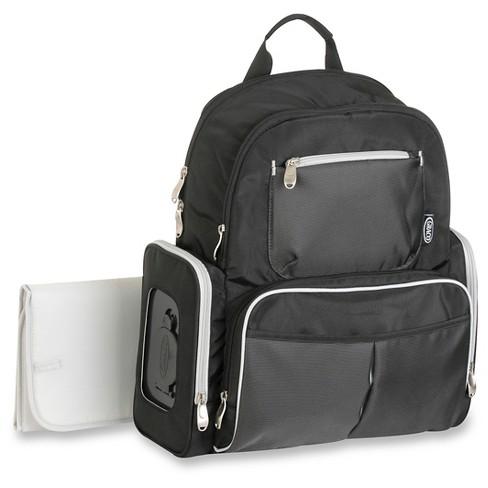 Graco Gotham Backpack Diaper Bag Black Gray
