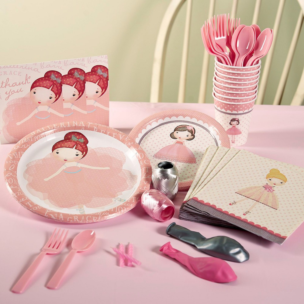 Ballerina Tu Tu Birthday Party Pack for 8, Variation Parent