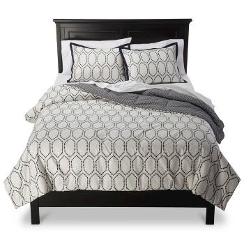 Threshold Diamond Lattice Comforter Set