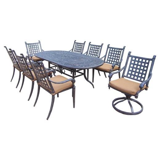Rosemont 9 Piece Aluminum Oval Patio Dining Furniture Set Target