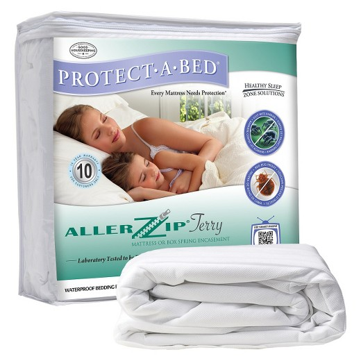 protect-a-bed allerzip terry anti-allergy & bed bug proof mattress