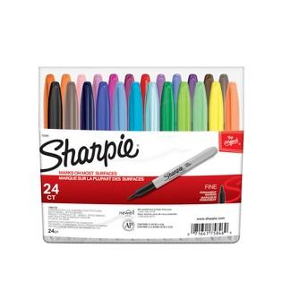 Sharpie® Fine Point Permanent Markers - Assorted (24 Per Set)