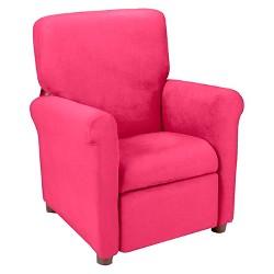 Kids Urban Reclining Chair - Racy Pink Microfiber - Crew Furniture