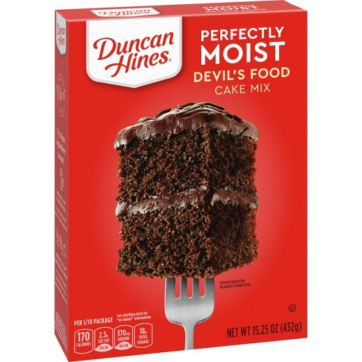 Duncan Hines Devil Food Cake Mix Ingredients