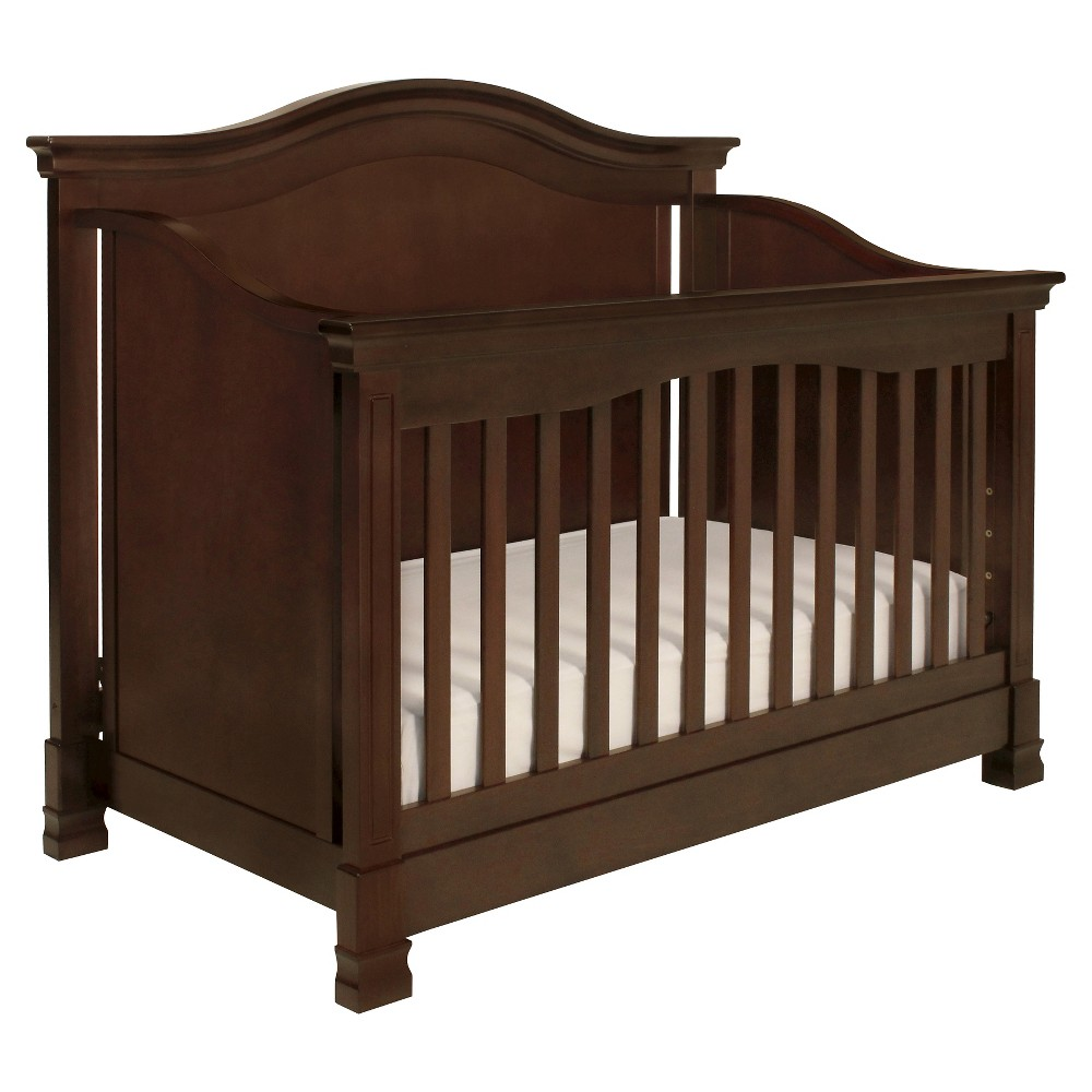 Million Dollar Baby Classic Louis 4 In 1 Convertible Crib With Toddler Rail Espresso, Brown