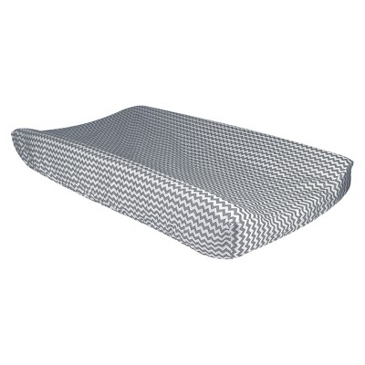 Gray Chevron Changing Pad Cover