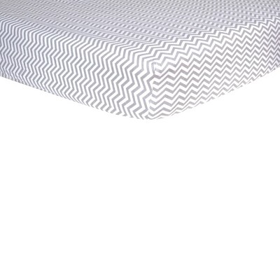 Gray Chevron Fitted Crib Sheet