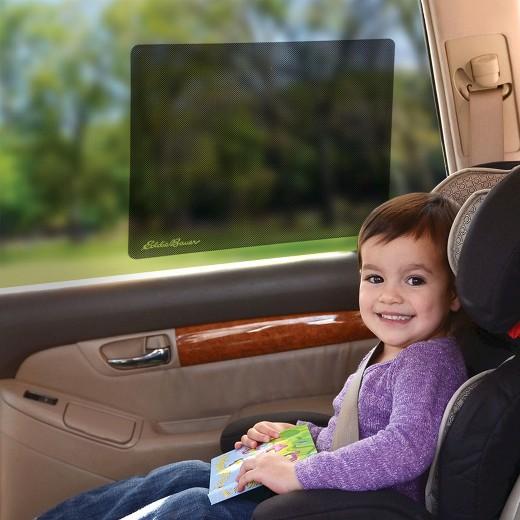 Eddie Bauer 2pk Cling Car Window Shades - Black : Target