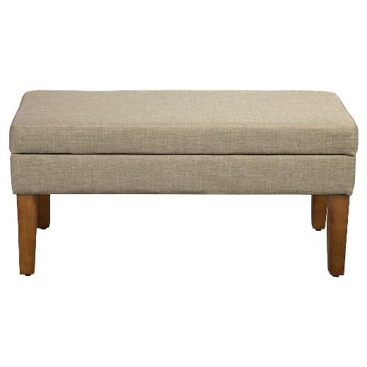 Homepop Decorative Textured Linen Storage Bench Tan Target