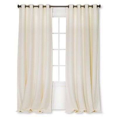 Basketweave Curtain Panel Cream (54 x84 )- Threshold™