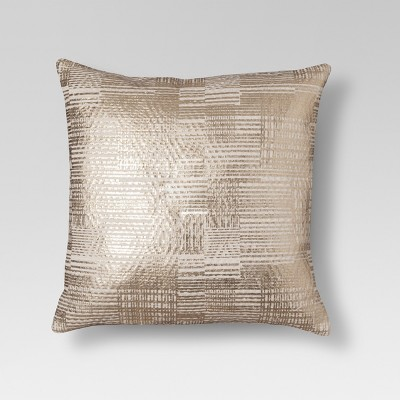 gold foil throw pillow threshold