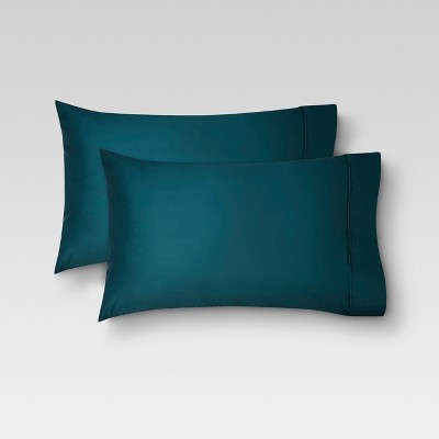 Performance Solid Pillowcase (King)Teal 400 Thread Count - Threshold™