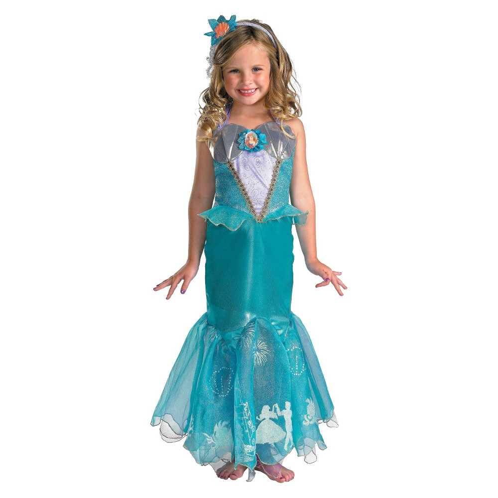 Disney Storybook Girls Ariel Prestige Costume Small (4-6), Size: S(4-6), Variation Parent