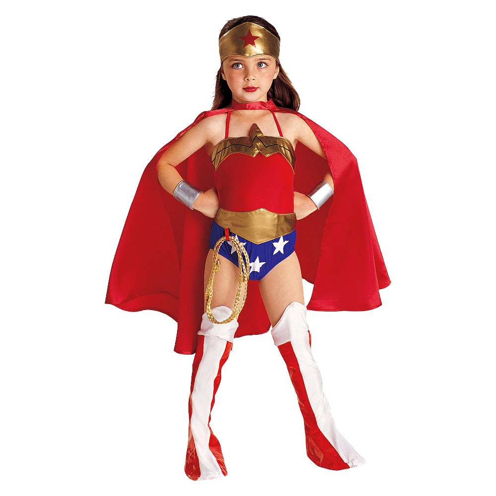 Kids' Wonder Woman Costume - L (12-14), Gold