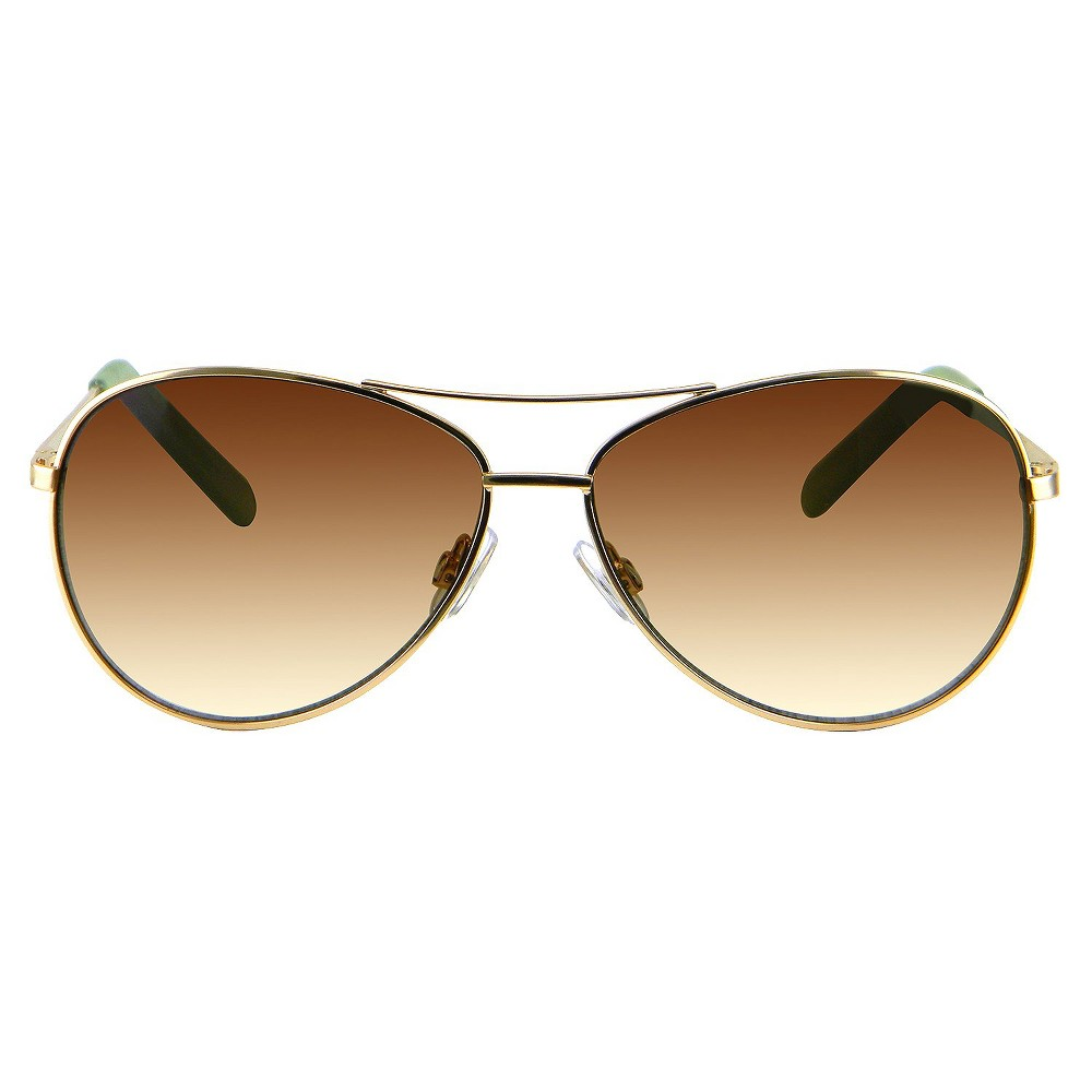 Womens Aviator Sunglasses - Gold
