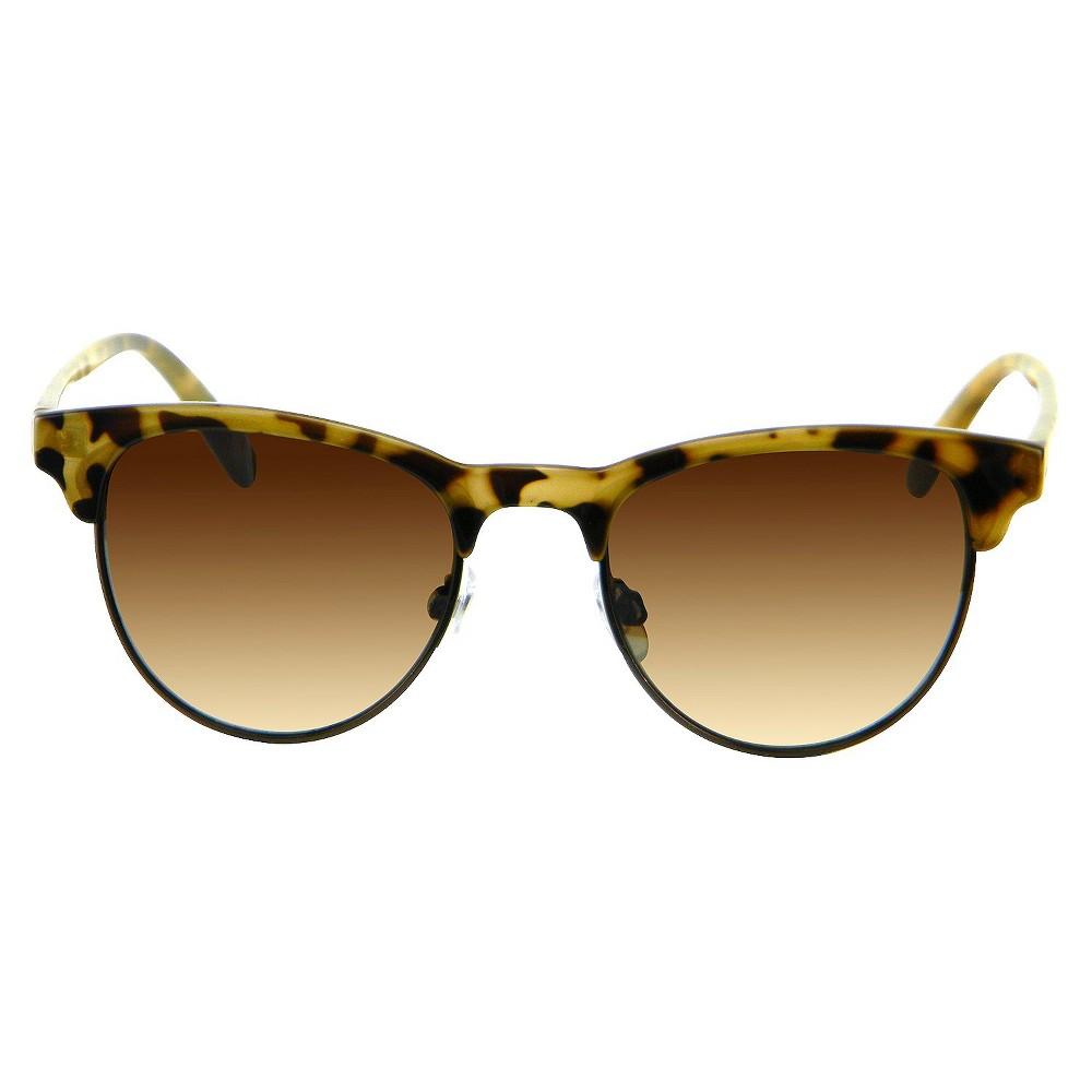 Small Round Retro Sunglasses - Tortoise, Womens, Brown