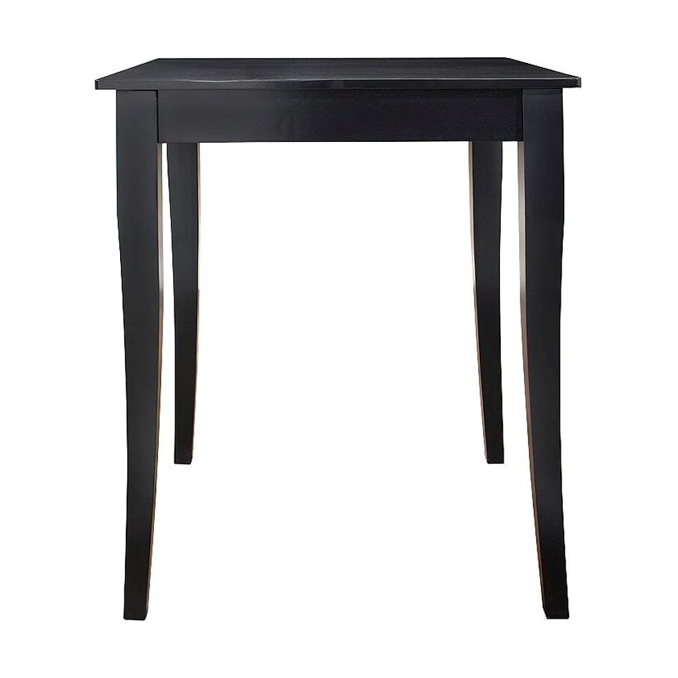 Dining Table Crosley Cabriole Leg Pub Table Set   Black