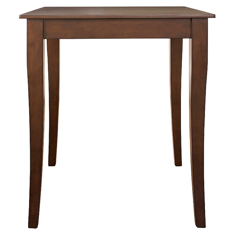 Dining Table Crosley Cabriole Leg Pub Table Set   Mahogany