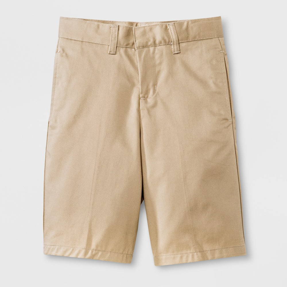French Toast Boys' Flat Front Short Khaki (Green) 5, Boy's