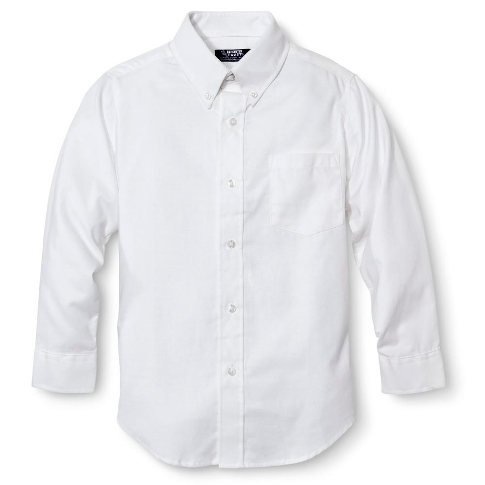 French Toast Boys' Long Sleeve Oxford Shirt - White 16