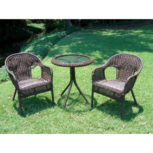 loved ... - Chelsea 3-Piece Wicker Patio Bistro Furniture Set : Target