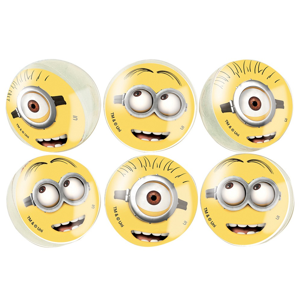 6 ct Despicable Me Minions Bouncy Ball