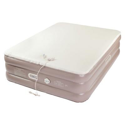 aerobed memory foam air mattress double high queen offwhite
