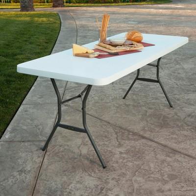 6u0027 folding table white granite lifetime