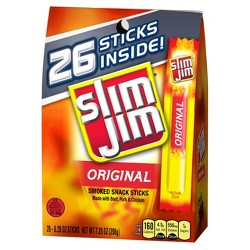 Slim Jim Original Smoked Snack Sticks - 7.28oz - 26ct