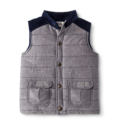 Infant Toddler Boys' Puff Vest - Navy Voyage 18 M