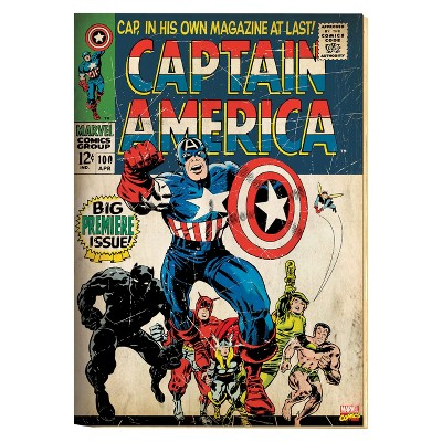 Marvel Captain America Printed Canvas - 14 x18