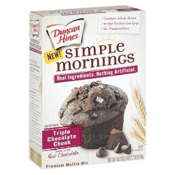 Duncan Hines Simple Mornings Triple Chocolate Chunk Muffin Mix - 18.2 oz