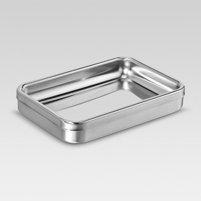 Brushed Stainless Steel Soap Dish - Threshold™